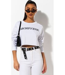 akira abcd f you long sleeve crop top