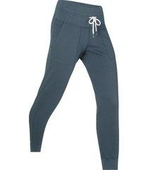 pantaloni in felpa cropped livello 1 (blu) - bpc bonprix collection