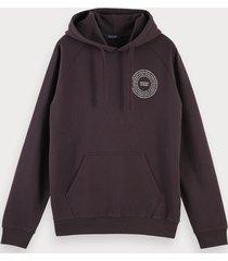 scotch & soda organic logo detail hoodie