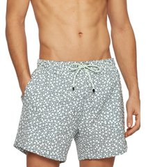 boss men's tile-print swim shorts