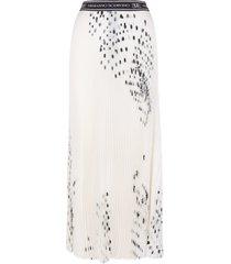 long skirt elastic logo belt
