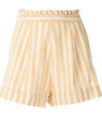 eva striped print shorts - yellow