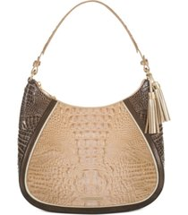 brahmin ciffon roseleaf amira shoulder bag