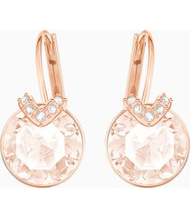 orecchini bella v, rosa, placcato oro rosa