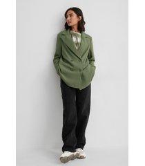 matiamu by sofia x na-kd oversize blazer - green