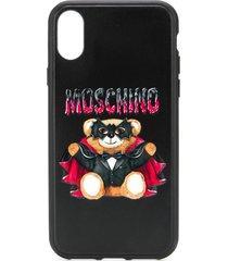 moschino bat teddy bear iphone x/xs case - black