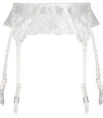wacoal decadence suspender belt - white