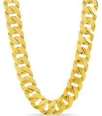 catherine malandrino flat link chain necklace in yellow gold-tone alloy