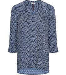 blusa im molly blouse 3-4 slv multicolor tommy hilfiger