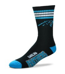 for bare feet carolina panthers youth 4 stripe deuce crew socks