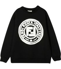fendi black sweatshirt with white logo
