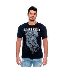 camiseta blessed emporio alex malha preto