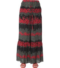 red valentino dreaming peony print trousers