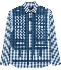 men's craig green flatpack gingham cotton shirt