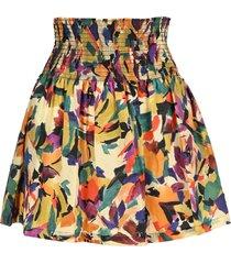 kenzo flower mini skirt