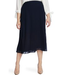 plus size women's cece pleated pull-on skirt, size 16w - blue