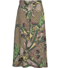 skirt long woven fab knälång kjol grön gerry weber