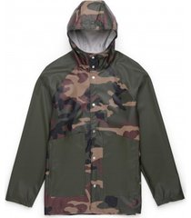 herschel jas supply co. men's rainwear classic woodland camo dark olive-s