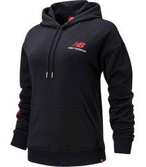 buzo hoodie cerrado para mujer essentials new balance