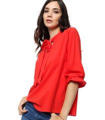 blusa roja newliza