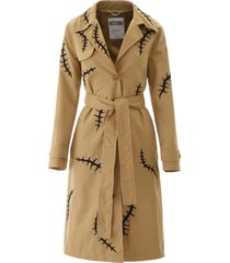 moschino embroidered trench coat