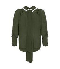 camisa feminina malik - verde
