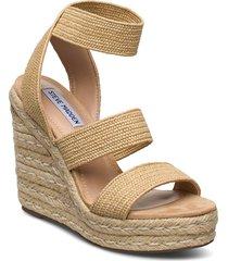 shimmy sandalette med klack espadrilles beige steve madden