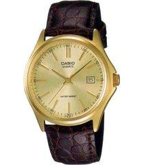 reloj analógico hombre casio mtp-1183q-9a - marrón con dorado  envio gratis*
