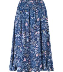 dra på-kjol med volang, mönstrad