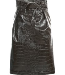 philosophy di lorenzo serafini short faux leather skirt w/leather