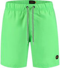 shiwi heren zwembroek solid mike recycled polyester new neon green