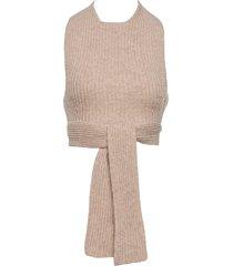 rib knit vests knitted vests brun ganni