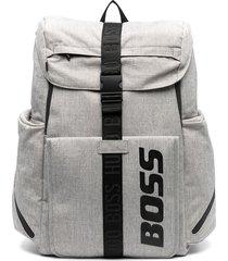 boss kidswear multi-pocket backpack - grey