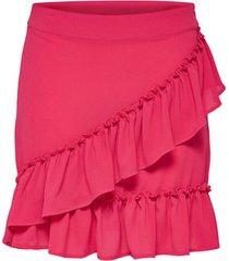 rok only falda onlnova wrap skirt solid lux wvn