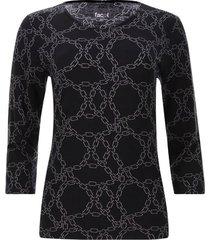 camiseta estampado cadenas color negro, talla m