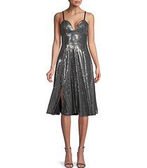 mimi sequin fit-&-flare dress