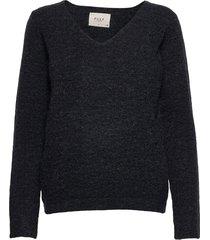 pzastrid pullover stickad tröja svart pulz jeans