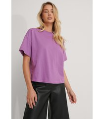 na-kd reborn ekologisk oversize t-shirt med 3/4-ärm - purple