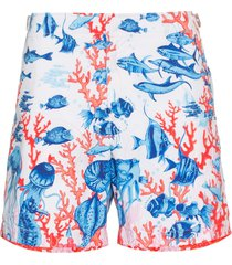 orlebar brown bulldog fish print swim shorts - white