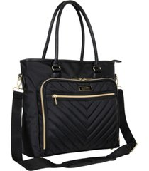 """kenneth cole reaction chelsea chevron 15"""" laptop & tablet business tote"""