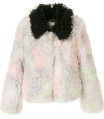 sandy liang pecan coat - multicolour