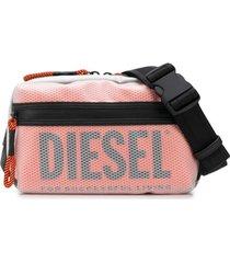 diesel pochete com sobreposição transparente - cinza