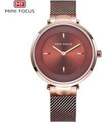 mini focus / 0195l / reloj para mujer / cinturón de malla
