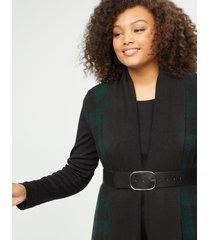 lane bryant women's reversible wide belt with elastic 26/28 black