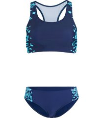 bikini a bustier minimizer (set 2 pezzi) (blu) - bpc bonprix collection