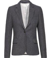 d2. d gal wool slim blazer blazer colbert grijs gant