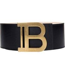 balmain b-belt belts in black leather
