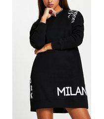 river island womens black longline sweatshirt dress