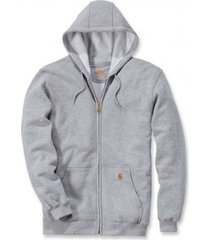 carhartt vest men zip hooded sweatshirt heather grey-m