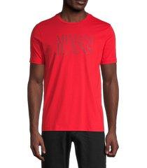 armani jeans men's logo cotton tee - red - size xl
